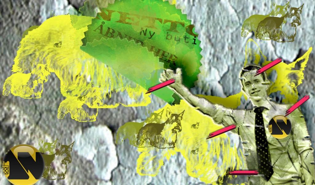 Steet Art inspireret wallpaper